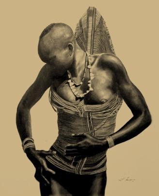 Dinka woman, South Sudan.