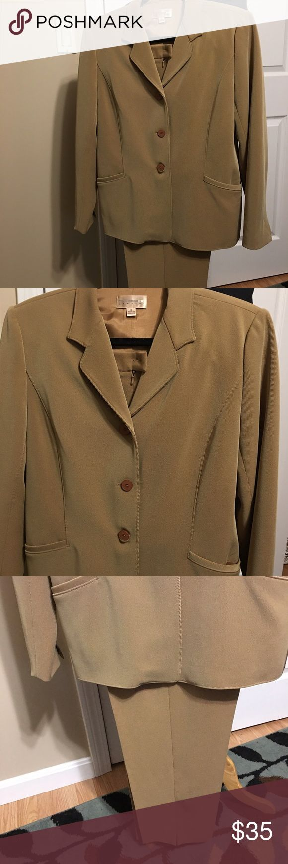 Ladies Pant/Jacket set Ladies pant and jacket set . Like new! Camel color. Pants are side zip. TrousersEtc  Other