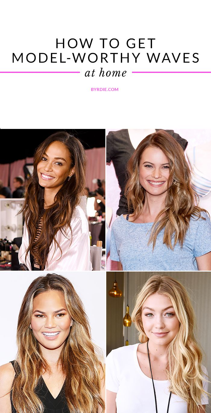 Your step-by-step guide to getting model-worthy, texturized beach waves in your bathroom