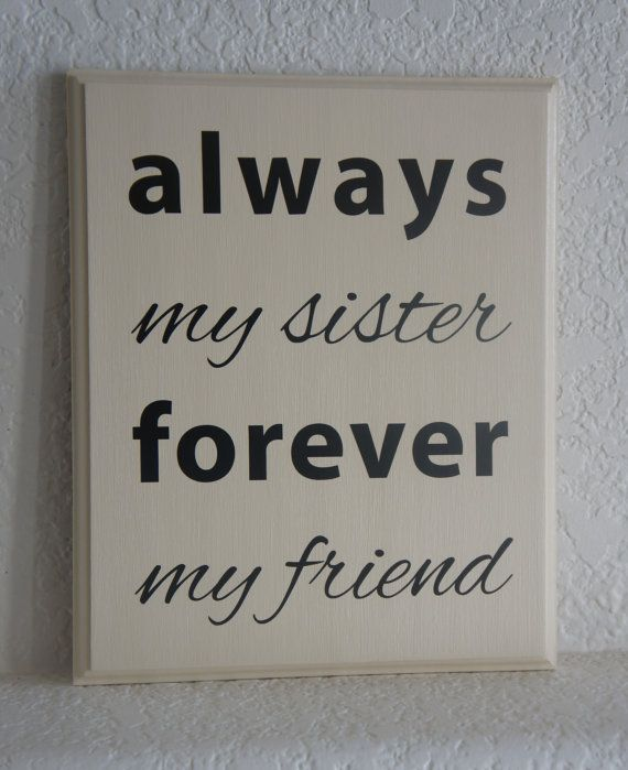 #Sister Plaque sign Always my sister forever my by Frameyourstory, $27.95
