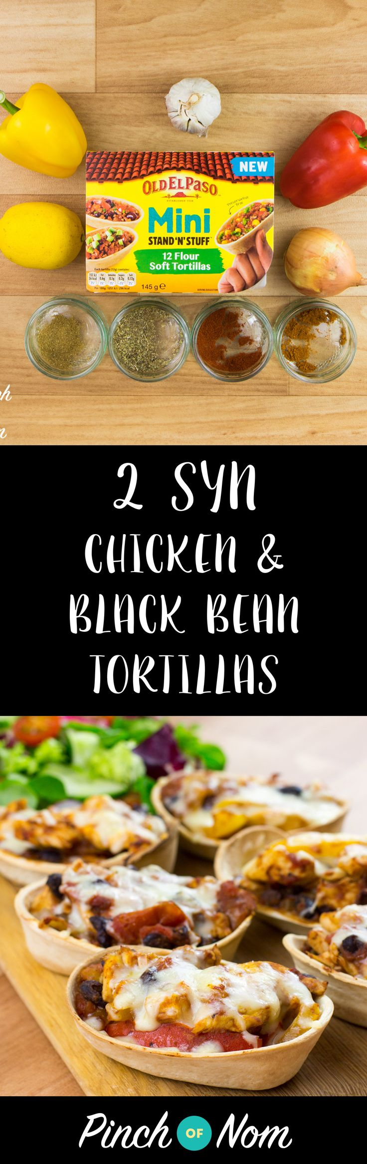 Low Syn Chicken and Black Bean Mini Tortillas | Slimming World
