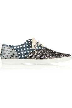 Marc Jacobs Printed elaphe sneakers | THE OUTNET