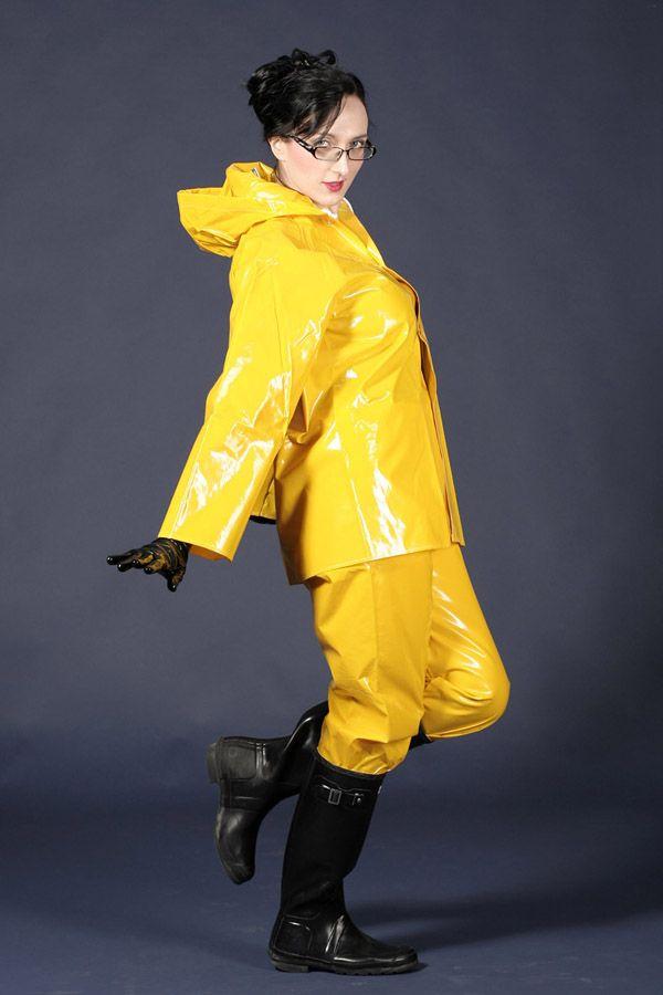 Yellow Maxden Rain Suit by lustlovelatex.deviantart.com on @DeviantArt