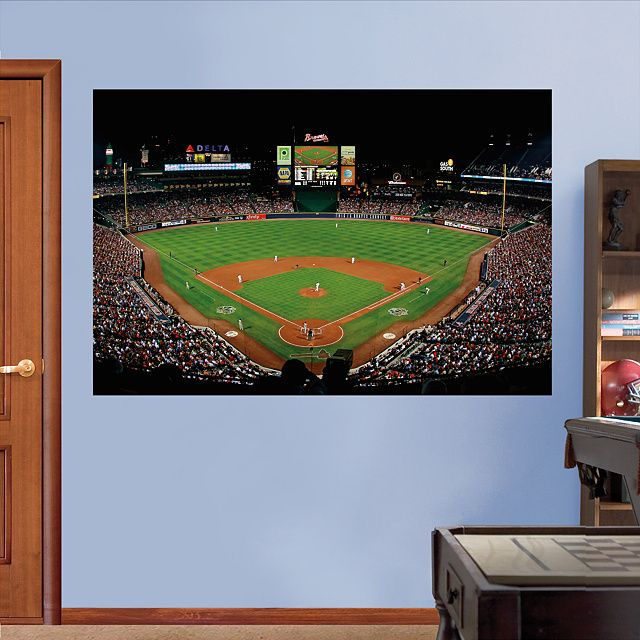 25 best ideas about turner field on pinterest braves for Baseball field wall mural