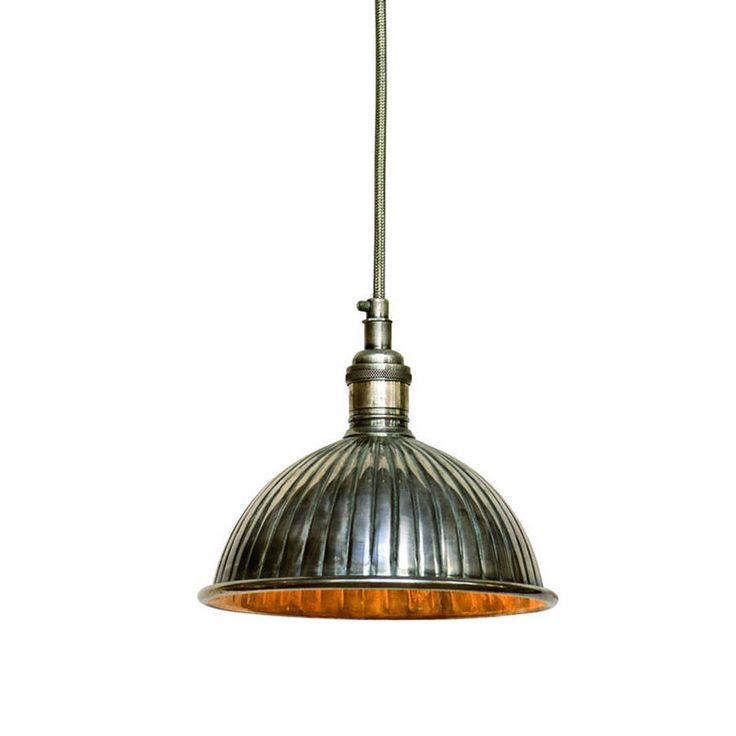 vintage nickel pendant light by idyll home ltd | notonthehighstreet.com