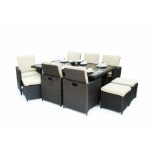 7 Piece Rattan All Weather Cube Set