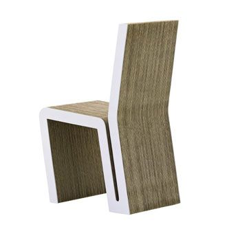 Side Chair(1972). Material: corrugated cardboard, fiberboard, and round timber.