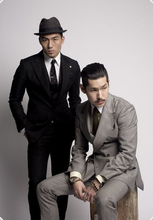Both nice suits, but that Black three-piece kills it ~ Old Man Fancy.