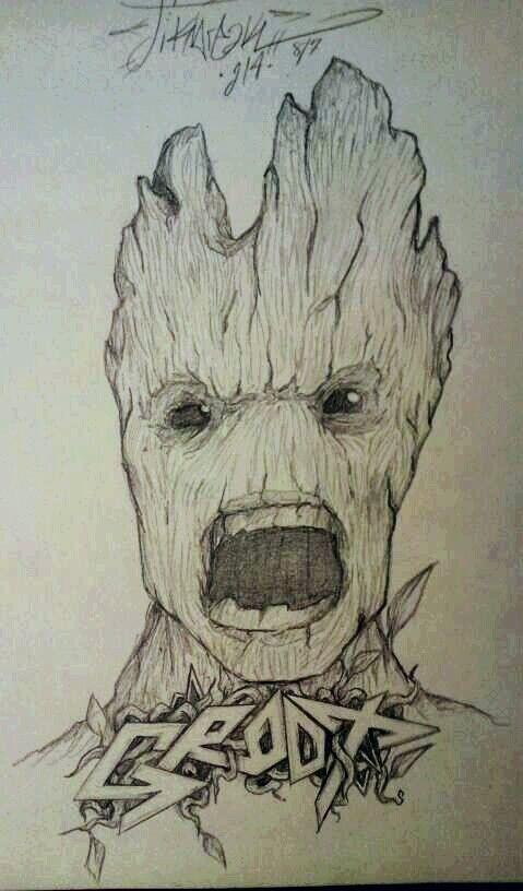 Groot Draw By Stikbreak Art Pinterest Awesome