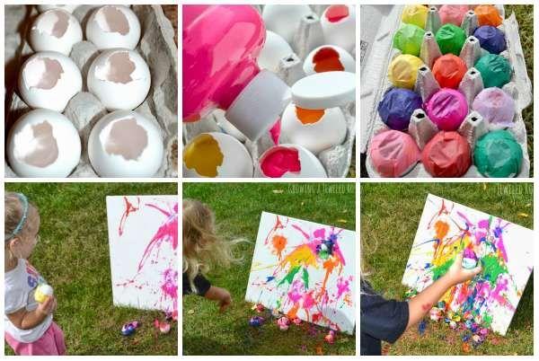 Avant de les jeter à la poubelle, on peut faire de l'art avec des coquilles d'œufs!  18 Activités manuelles pour enfants amusantes éducatives et pas chères