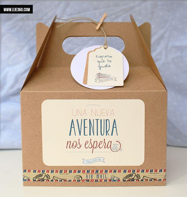 Cajita Aventura perfecta para regalar viajes y aventuras. El envoltorio perfecto para tus regalos de cumpleaños,boda y Navidad.