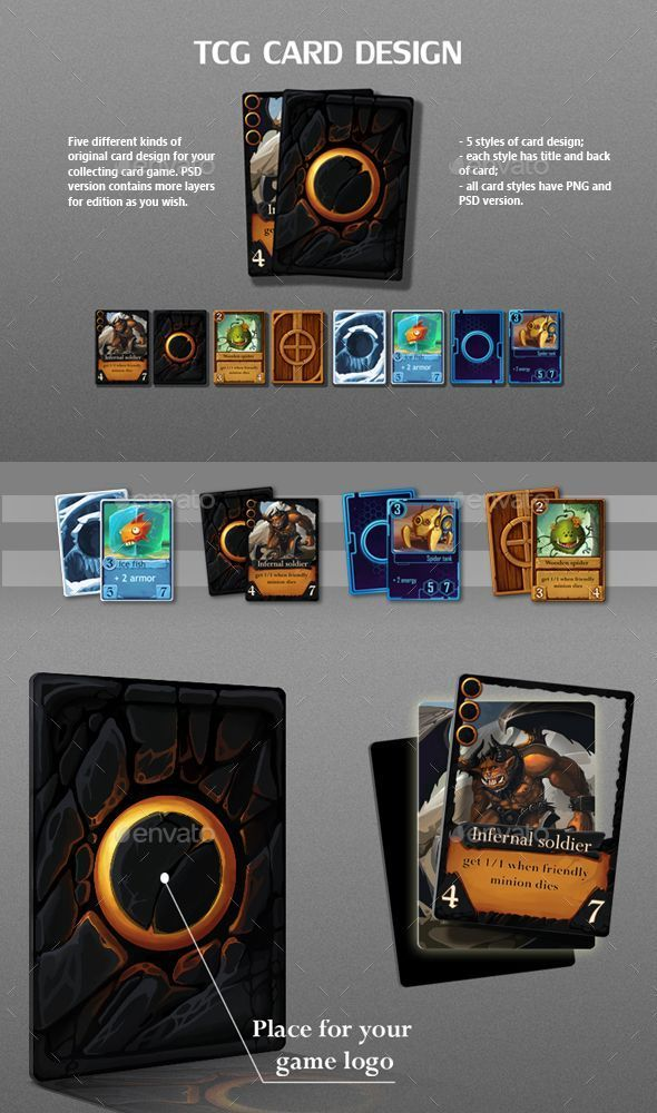 Trading Card Game Template Free Download In 2020 Game Card