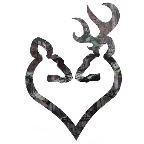 the camouflage browning buck and doe heart  or  u0026quot buck