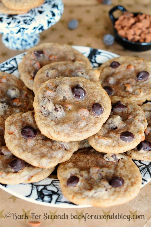 Chewy Cinnamon Cookies with Dark Chcolate Chips - These cookies are AWESOME!
