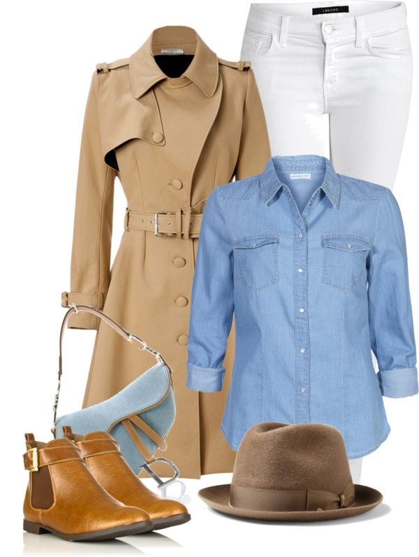 """""""Khaki and Blue"""" by theacademyofme on Polyvore"""