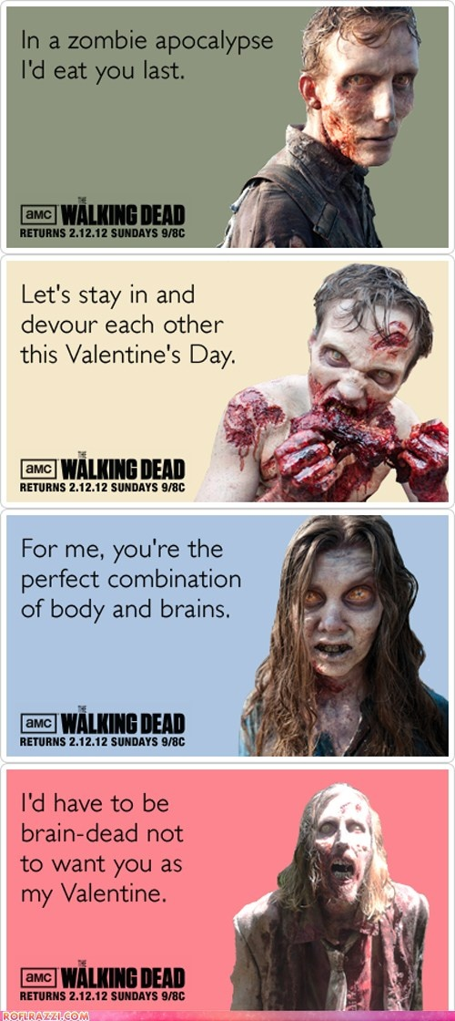 344 best images about VD – Zombie Valentines Cards