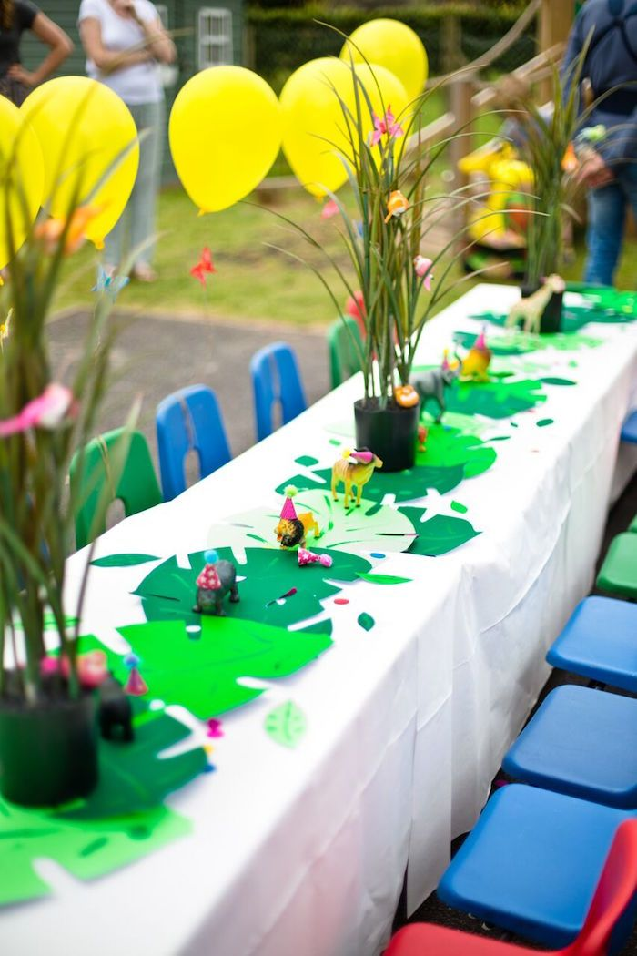 Tropical Rainforest Jungle Animal Birthday Party on Kara's Party Ideas | KarasPartyIdeas.com (33)