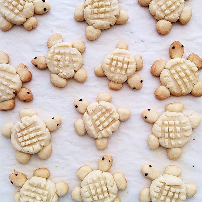 Oh my gosh: World's cutest cookies from Elleventy on Instagram.