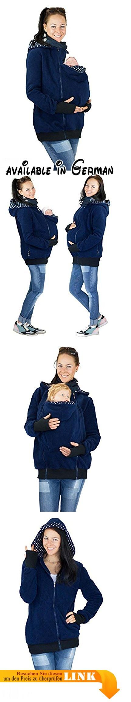 GoFuture Damen Tragejacke für Mama und Baby 4in1 Känguru Jacke Umstandsjacke GF2072XH2 Marine mit weißen Punkten auf dunkelblauem Innenfutter Gr. 36. Babytragejacke (Neugeborene & Größere Babys). Umstandsjacke durch Jackenerweiterung per Reißverschluß. Normale Freizeitjacke im Handumdrehen. Handgemachtes Design mit Liebe aus Niedersachsen. Mit Babytrage oder Babytragetuch zu nutzen #Apparel #OUTERWEAR