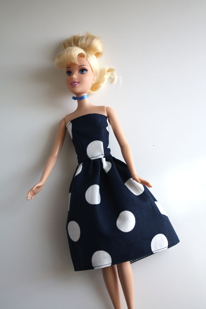 Barbie Dress tutorial.  My girls would love to design their own Barbie dresses.