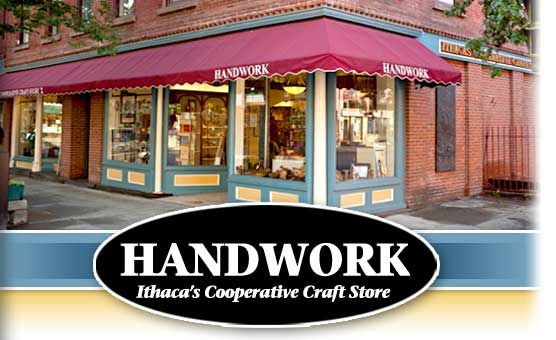 Handwork - Ithaca's Cooperative Craft Store in Ithaca, NY - A cooperative, owned and operated by more than thirty local artists and craftspeople, Handwork offers an ever-changing selection of fine qua...