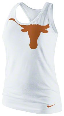 texas longhorns women's nike logo tri-blend racerback tank top - white