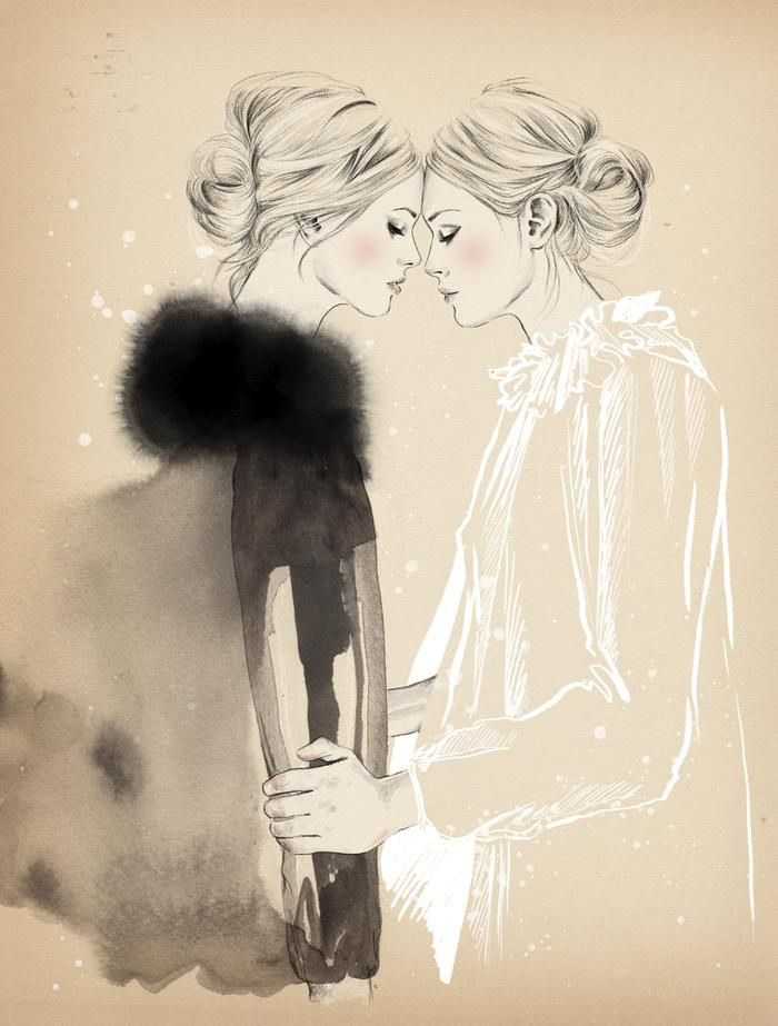 Esra Røise - delicate and feminine, I love this x I love the wet on wet ink bleed x