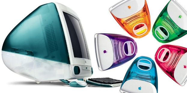 Apple iMac G 3's introduced in 1998, colors added in next few years