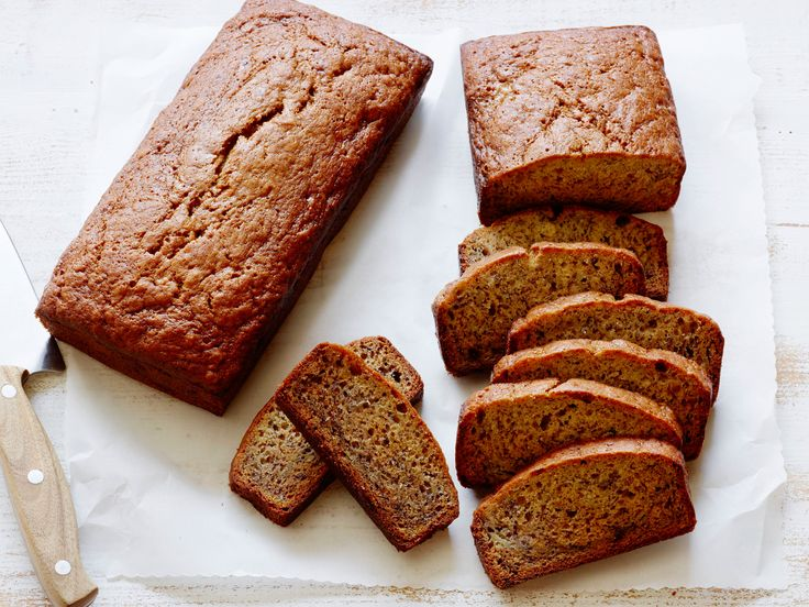 Banana Bread recipe from Food Network Kitchen via Food Network. Just tried it with dark chocolate chips and crushed walnuts. I'm not a baker, but this was so easy!!