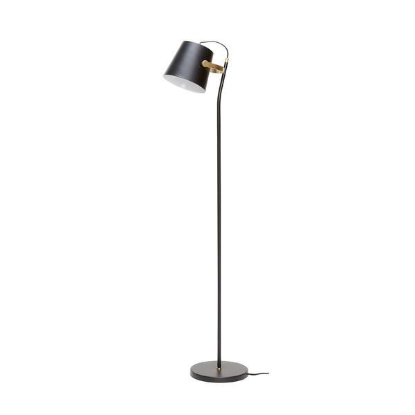 Hübsch Gulvlampe sortmessing | Brass floor lamp, Floor