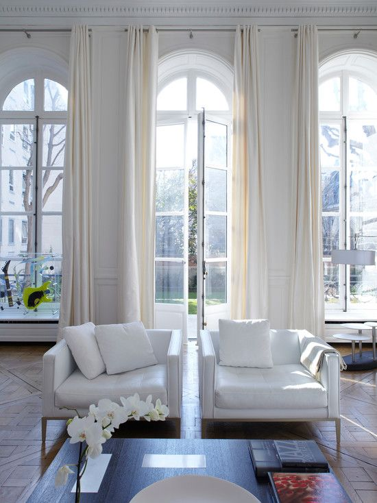 25 best ideas about arched window curtains on pinterest - Modern window treatments for living room ...