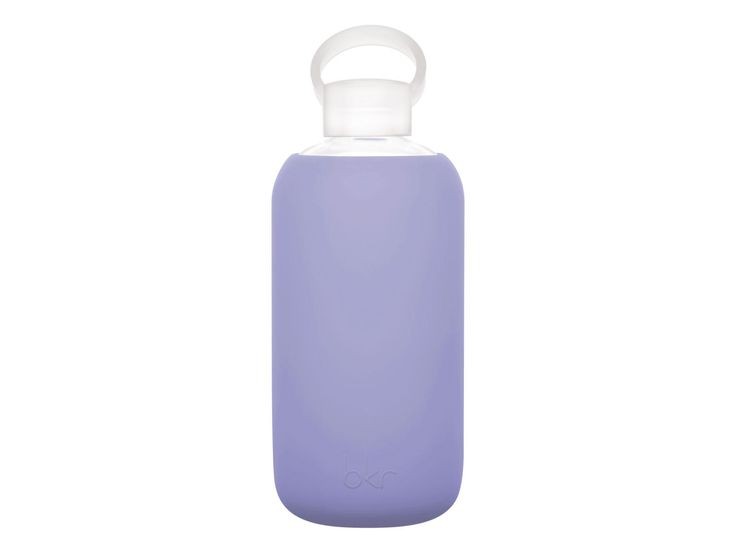 1 Liter Water Bottle by bkr | $45 | Tutu (lt pnk), Moto, Sugar (dk pnk), Pinup, Sigh, Eden; Silicone-sheathed glass water bottles; Proceeds frm purchase support clean water efforts in Africa by Obakki Foundation, cancer research at Canary Foundation. FDA-approved, BPA-and phthalate-free, lightweight, reusable, 100% recyclable. Made in USA; Food-grade polypropylene cab and silicone gasket.