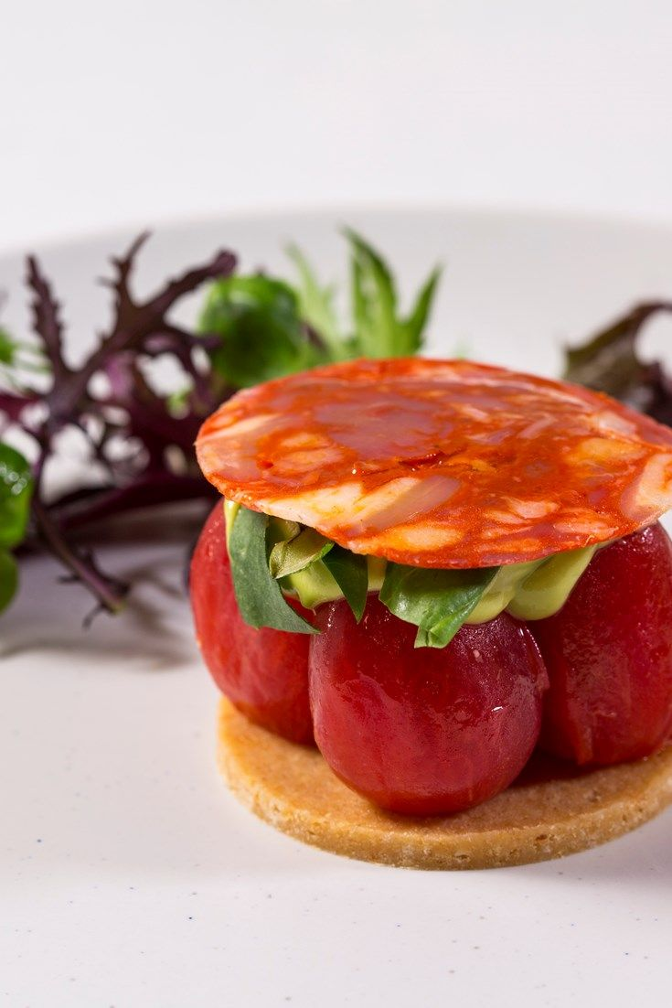 Paul Foster's stunning presentation ensures this tomato tart recipe is as impressive as it is delicious. A fantastic starter recipe which can be assembled at the last minute, making it ideal for an impressive dinner party menu.