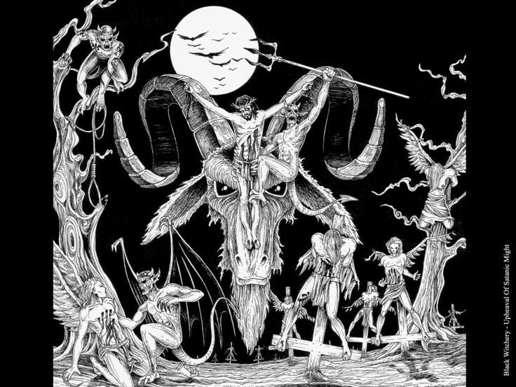 group of black and white skeleton satan wallpaper