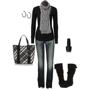 fall-outfits-2012-Casual Outfit, Fashion, Style, Closets, Clothing, Fall Winte, Black Outfit, Winter Outfits, Fall Outfit