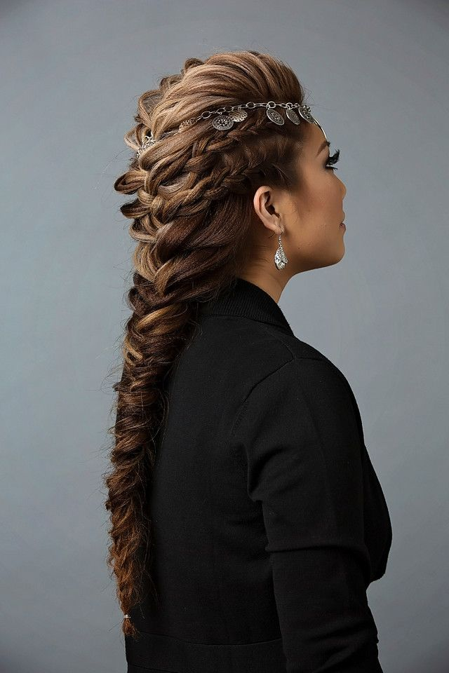Finish the French braid mohawk hairstyle with a flexible hold hairspray