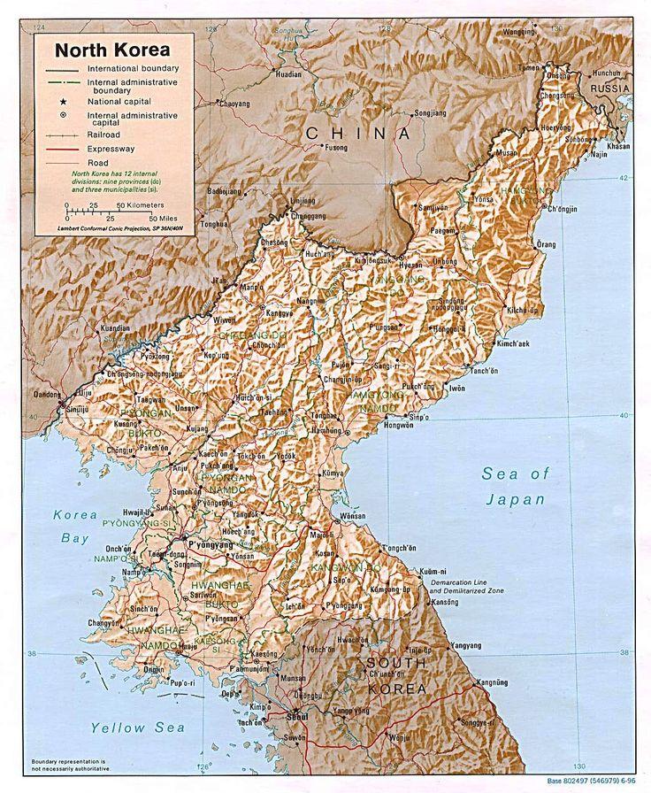 Political Map of North Korea Maps Pinterest North korea and Korea
