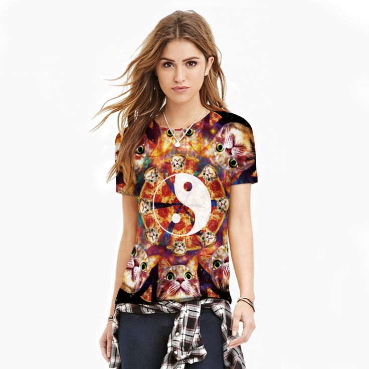 >> Click to Buy << women Digital Printing Tai Chi Gossip Animal Summer T shirts Short Sleeve O neck Camisetas Mujer Summer Style Fashion T shirt #Affiliate