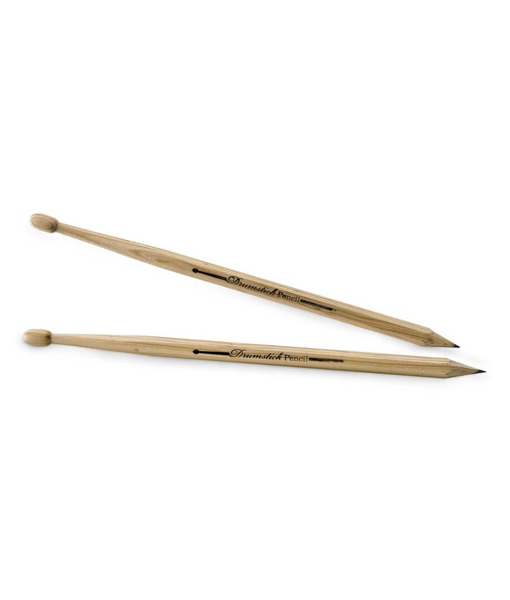 I TOTALLY bought these today for my little drummer. (as if all his pencils weren't already drumsticks)