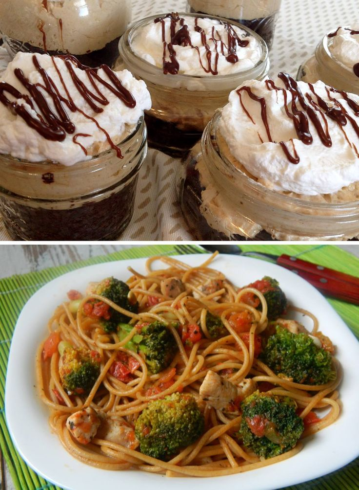Peanut butter pie jars și Spaghete cu broccoli! Yummy! ^_^   Află cum se prepară! >> https://issuu.com/performance-rau/docs/nr-52-mai-2016/38    #cooking #retete #RevistaPerformance