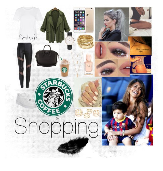 """""""Shopping W/Antonella Messi"""" by aliapayne11 on Polyvore featuring mode, Chicnova Fashion, Calvin Klein, NIKE, Givenchy, ABS by Allen Schwartz, Armani Beauty et Forever 21"""
