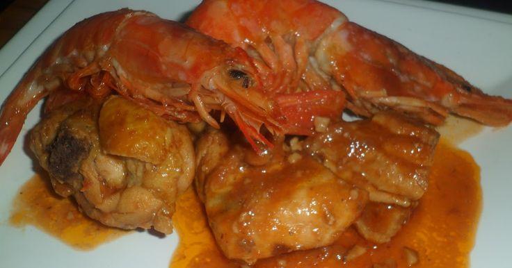 Un plato de lujo, Mar y Montaña donde la combinación carne y pescado es muy buena. Es una receta antigua de la cocina tradicional cata...