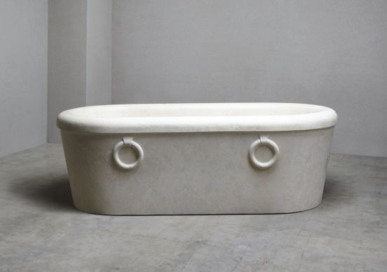 Roman Moleanos limestone bath
