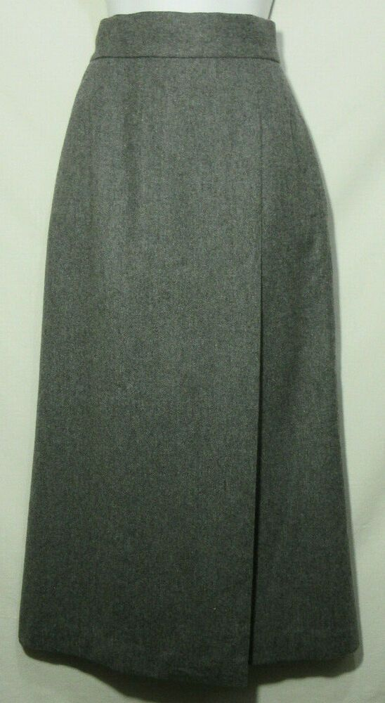f8fa75051 Vintage Soft Wool Skirt 1980's High Waist A Line Long Ankle Length Lined  Slit S #NeimanMarcus