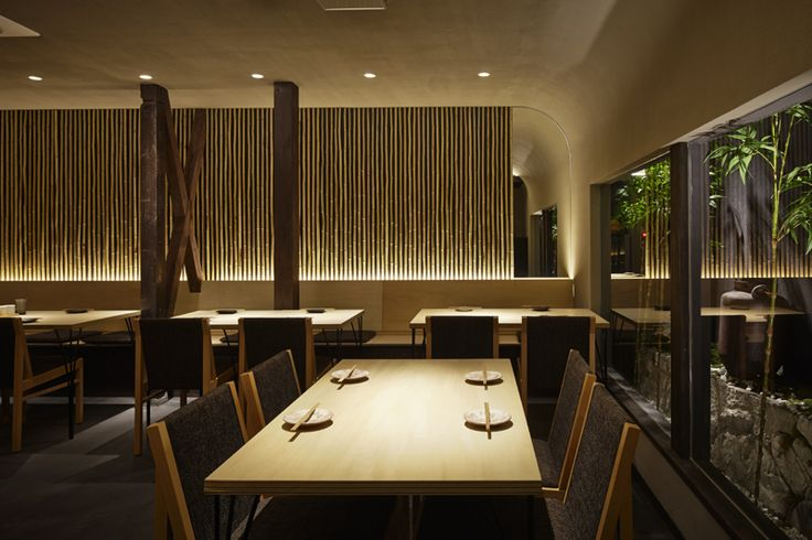 A Japanese restaurant interior design by Compas Architects.