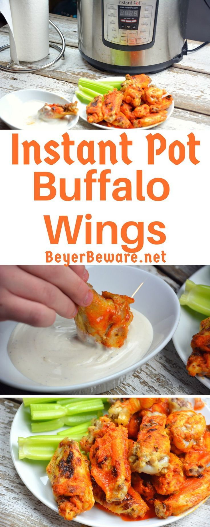 These Instant Pot Buffalo wings were quick to make chicken buffalo wings yet resulted in fall of the bone tenderness all while being drenched in an easy butter and Franks hot sauce buffalo sauce. #instantpot #buffalochicken  #keto #lowcarb