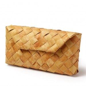 CLUTCH made of soft birch bark