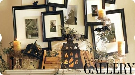 : Halloween Mantels, Halloween Mantles, Ghosts Galleries, Halloween Galleries, Barns Mantels, Pictures Frames, Barns Halloween, Pottery Barns, Halloween Ideas