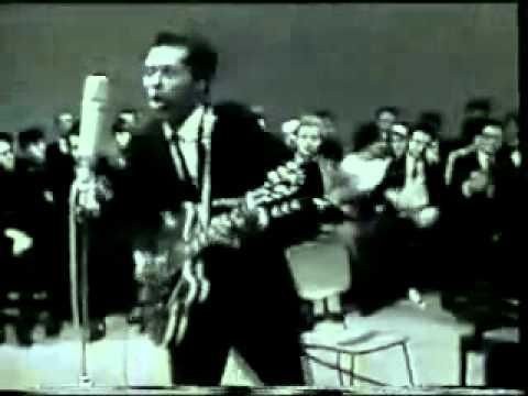 "Chuck Berry - ""No Particular Place To Go"". We saw him at Vo-Tech high school, Sparta NJ in the early 90s. He invited everyone on stage at the end!"