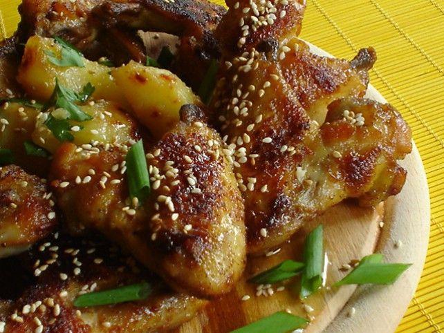 Mézes-szezámos csirkeszárny Recept képpel - Mindmegette.hu - Receptek